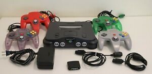 Nintendo N64 Video Game Console with 4 Controllers