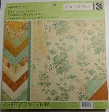 K&Company Ancestry.com Designer Paper Pad 36 pages Double Sided 1.7 lbs paper!
