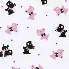 Scotty Puppy Dog FLANNEL Fabric ~ 100% Cotton By The Yard ~ Camelot Soft Flannel