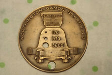Odd Vintage Token Fob Worthington - Gamon Newark NJ Meter Shows Gal Water Waste