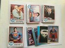 Superman first movie cards and sticker set 1978