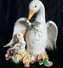 Fitz and Floyd Classics Garden Rhapsody Mother Goose and Gosling