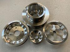 Underdrive Aluminum Crank Pulley Kit FOR 90-93 Nissan 300ZX 3.0L Z32 VG30DE 4pcs