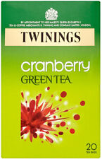 TWININGS CRANBERRY GREEN TEA 20 TEA BAGS
