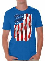 USA Flag T shirts Shirts Tops  Men's American Flag Distressed 4th of July