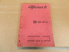 MANUALE ORIGINALE 1973 ALFA ROMEO ALFASUD Ti