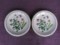 "Studio Nova Garden Bloom Dinner Plates Flowers 10 7/8""  Set of 2"