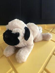 "Gund Pug Plush Stuffed Animal 8"" ""Tucker"" Doug Tan Black Dog Puppy"