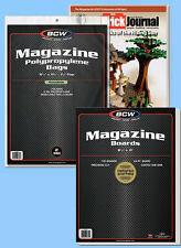 BCW: Resealable Magazine Bags + Acid-Free Boards Combo: 100ea *Ships FREE in USA