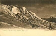 Vintage Postcard Haynes PHoto Mammath Hot Springs Yellowstone National Park