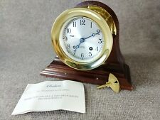"""Exceptional - Unaltered - Chelsea """"Ships Bell"""" Clock, 4 1/2"""" Dial - Hinged Bezel"""