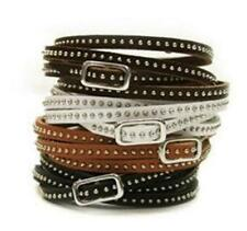 Leather Silver Plated Beaded Fashion Bracelets