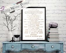 "Rose Gold Foil ""that I would be good"" song lyrics Alanis Morrisette print"