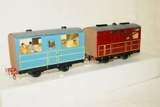 0-16.5 Gauge 7mm SCRATCHBUILT 2x Coach Blue Red Livery NICE and WELL BUILT
