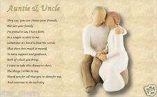 AUNTIE & UNCLE GIFT - personalised poem (Laminated gift)