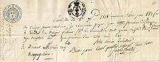 PAPIER ANCIEN PARCHEMIN - PROMESSE DE PAIEMENT CESSION DE CREANCES MALVILLE 1818