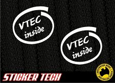 VTEC INSIDE DELL VINYL STICKER DECAL SUITS HONDA CIVIC INTEGRA EK EG TYPE R