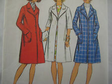 Vintage Simplicity 5526 OPTIONAL BUTTONING LINED COAT Sewing Pattern Women