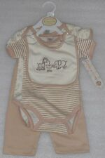 """NEW Baby Boy Brown Animals """"I Love You"""" 4 pc Set Size 6-9 Months NWT"""