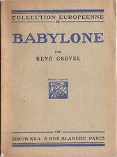 RARE EO N° RENÉ CREVEL + CHRISTIAN BÉRARD : BABYLONE