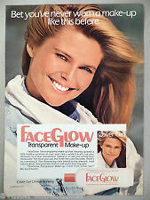 Cover Girl FaceGlow Make-Up PRINT AD - 1985 ~~ Christie Brinkley, Face Glow