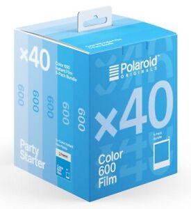 5 x POLAROID 600 Film für alle 600 Sofortbildkameras!! HAMMERPREIS !!