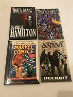 Lot Of 4 Marvel Tpb Graphic Novel Comic Hardback Books