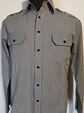 MENS SHIRT RAW ENGINEERED CLASSICS LONG SLEEVED BUTTON UP SIZE S