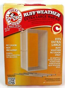 Ideal Pet Products Ruff-Weather Protector Dog Door Wall Kit *Extra Large* New
