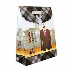 1 x Gift Bags Suit for Man -Classic Luxurious Christmas Gift Bag Paper Bags