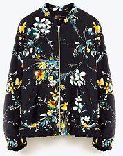 Zara oriental Matelassé Floral Veste Taille Extra Extra Large XXL