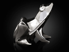 Sitting Frog Silver Origami Style Sculpture By Nomi Wildlife Gift
