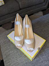 Liz Claiborne Ramona Nude Open Toe Shoes Size 10