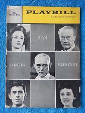 Five Finger Exercise - Music Box Theatre Playbill - August 15th, 1960 - Tandy