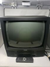 Toshiba 19 Inch Tv Vcr Combo Player Model Mv19M2 Black Video Gamer With Remote
