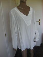 Emilia Lay tolles Shirt  Blusen- Shirt 42/44  Creme  Langarm