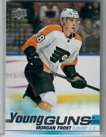 2019-20 Morgan Frost YOUNG GUN AND YOUNG GUN CANVAS #469 & C238 FLYERS