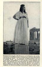 Elli Victorius Vorkämpferin für die klassische Tracht in Griechenland von 1909