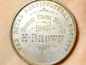 1903 Royal Horticultural Society South Park Show H. Brown Bronze Medal #T8G