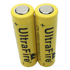 2X Flat Top 18650 3.7V 9800mAh Li-ion Rechargeable Battery for Flashlight Torch