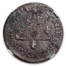 1711-D France Billon 30 Deniers Louis XIV Genuine NGC - SKU #94743