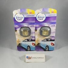 (2) Febreze Car Vent Clips, Vanilla and Moonlight Scent, .06 fl oz Each