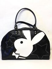 Playboy Black & White Large Handbag Playboy Bunny Bowtie Travel Duffel Bag