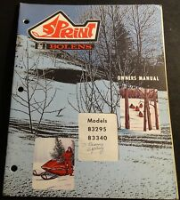 VINTAGE 1972 BOLENS SPRINT SNOWMOBILE OWNERS MANUAL 83295 & 83340 (717)