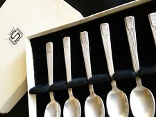 6 RARE 1952 HOTEL  STATLER  LOS ANGELES SILVER PLATE SPOONS MID CENTURY MODERN