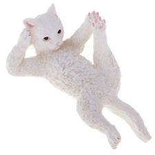 Resin White Cat Garden Decoration Ornaments Home-decors Pastoral Figures