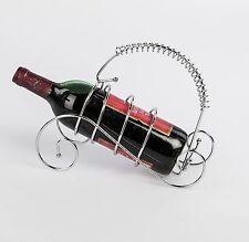 Moderno soporte botellas vino Ola Metal cromo-plateado Plata Altura 25cm