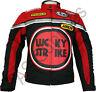 LUCKY STRIKE Veste de Moto en Textile Cordura Blouson Motard - Noir / Rouge