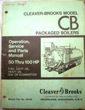 Cleaver Brooks Package Boilers Manual Asbestos Cement Insulation Gasket 1970's