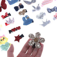 5Pcs/Set Baby Girl Kids Hair Clips Bowknot Heart Crown Headwear Hairpins Rapture